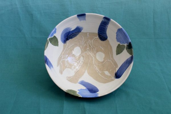 KateBorder_Pottery_TwoHeadedCow_12 x 12 x 8in