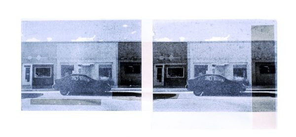 """Mason Cessna. Truth or Consequence, Photo-Lithography with Chine Collé, 10""""x24"""""""