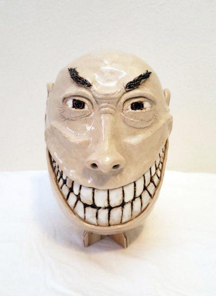 """Max Meyer. Smiles, stoneware, 9""""x6""""x6"""""""