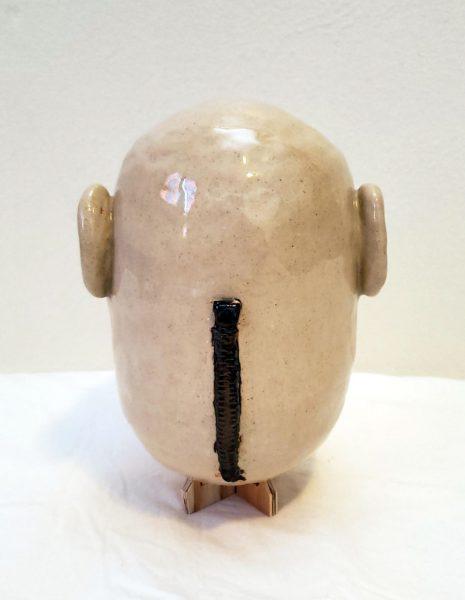 """Max Meyer. Smiles (detail), stoneware, 9""""x6""""x6"""""""