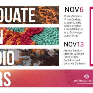Graduate Open Studio Tour Flyer 2020