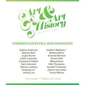 Fall 2020 Graduates Flyer