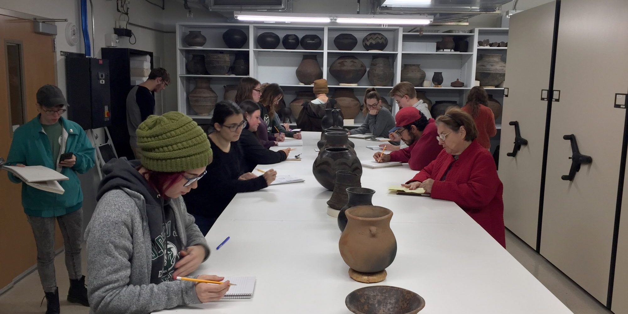 Art history and pottery collaboration